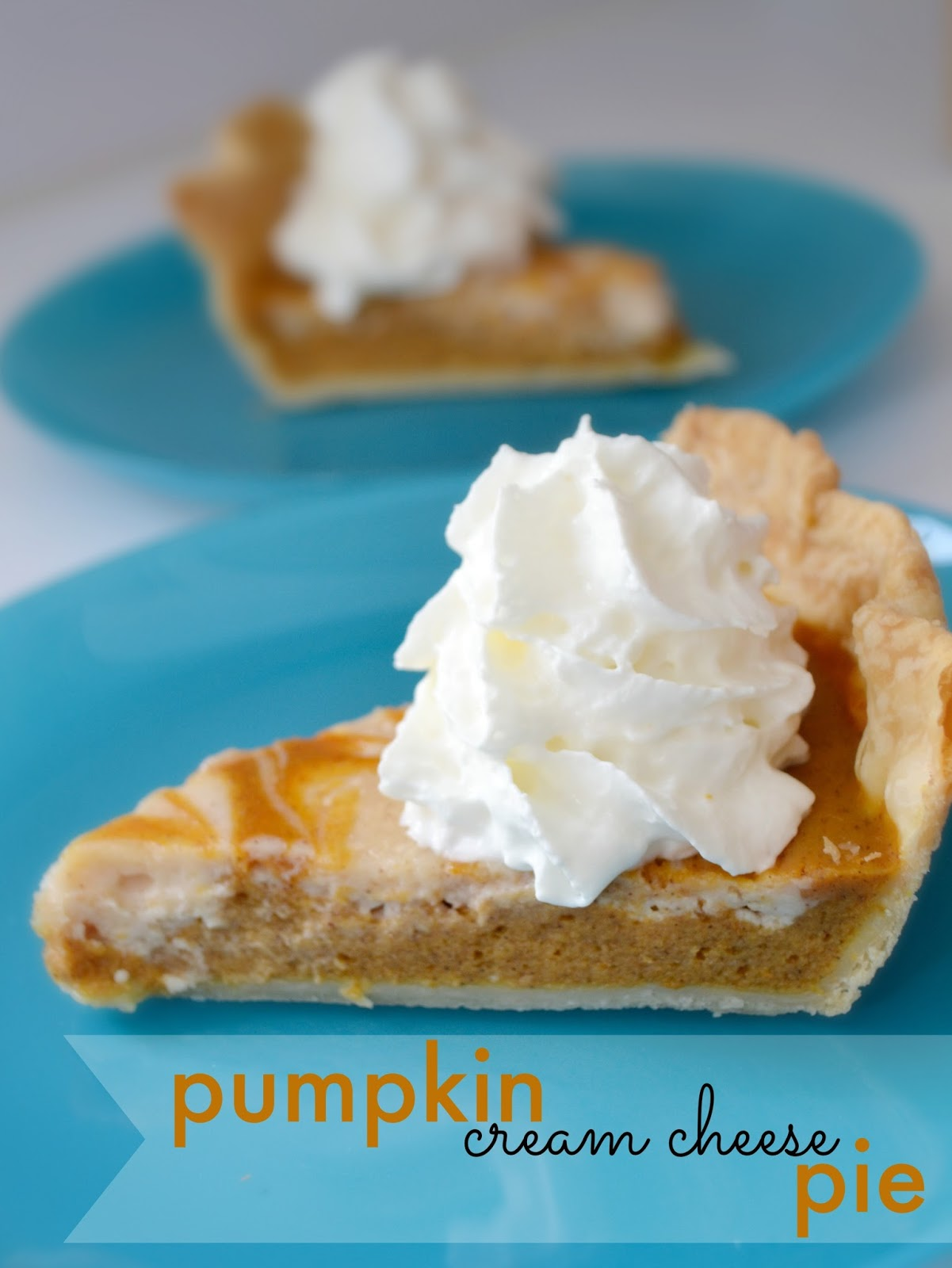 A Peachy Keen Pie Month: Pumpkin Cream Cheese Pie