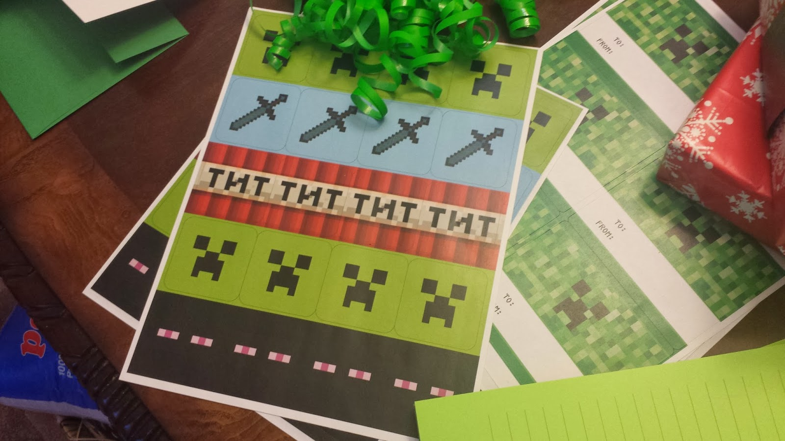 Minecraft Invitation Card for nice invitations design