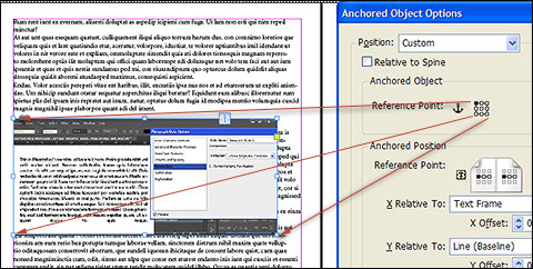 Anchored Object > Reference Point relation with object