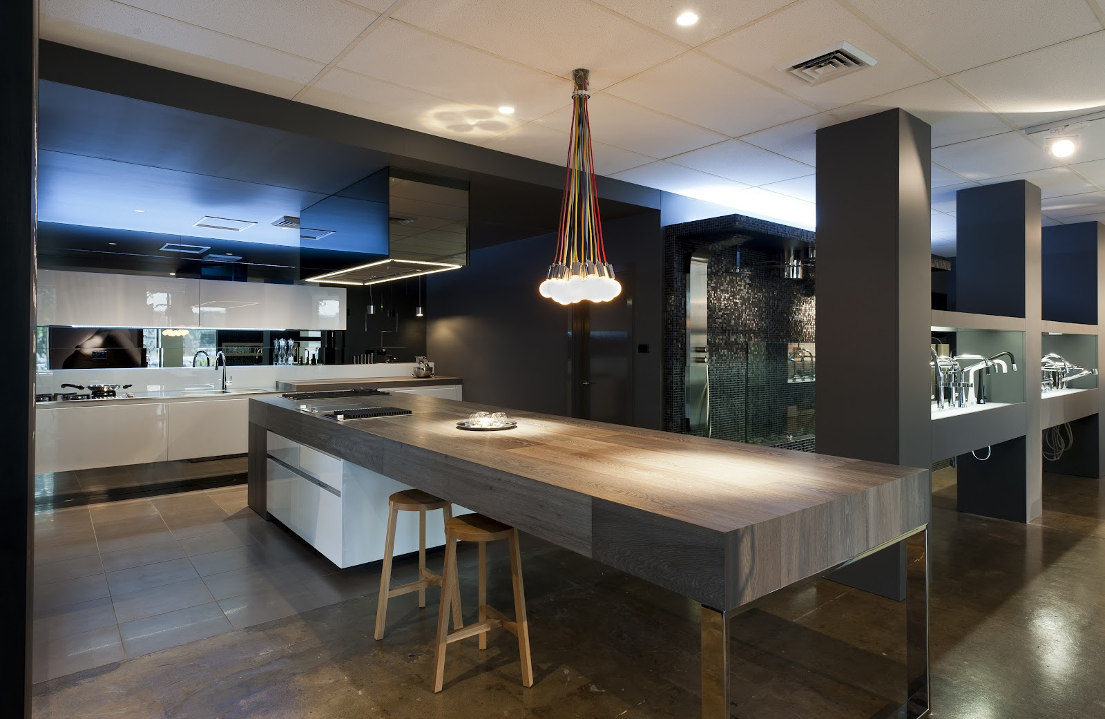 Minosa minosa completes the abey south melbourne showroom for Cuisine contemporaine design