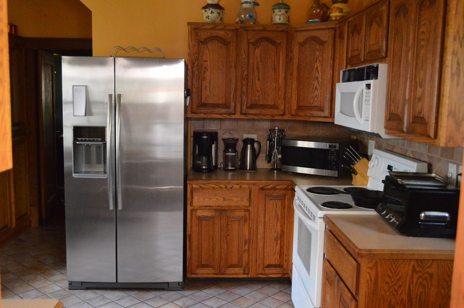 Counter Depth Refrigerator In Kitchen Viewing Gallery
