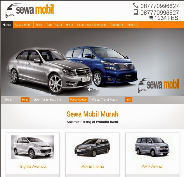 Website Rental/Sewa Mobil
