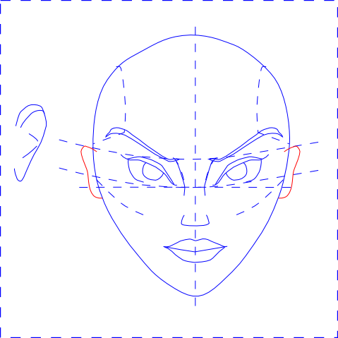 Woman's Face - Draw Ears