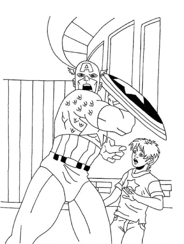 Captain America Coloring Pages title=