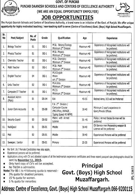 Teachers & Other Staff Jobs in Daanish School Muzaffargarh