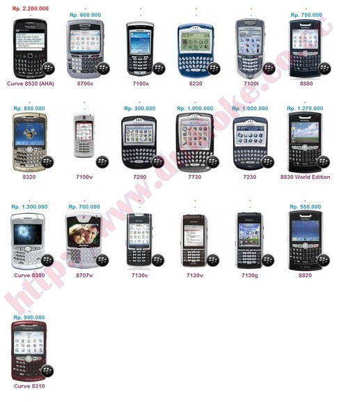 Harga Blackberry Terbaru Bulan Juli 2011 ( Lengkap )