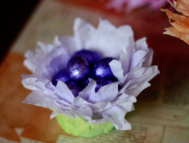 easter gifts: flower basket tutorial