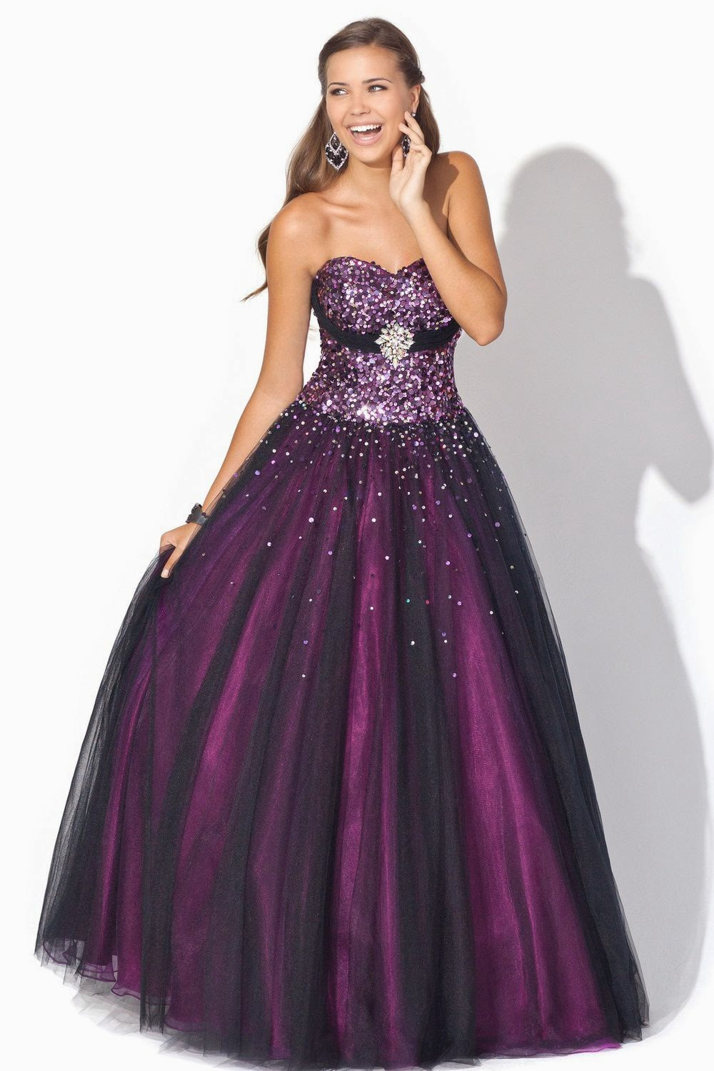 Quincy IL 2015 Red Strapless Prom Dresses