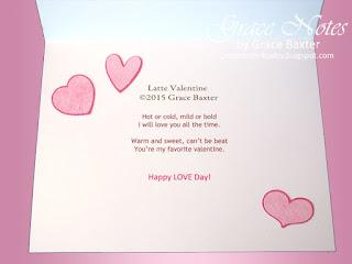 Latte Valentine, poem by Grace Baxter. Copyrighted.