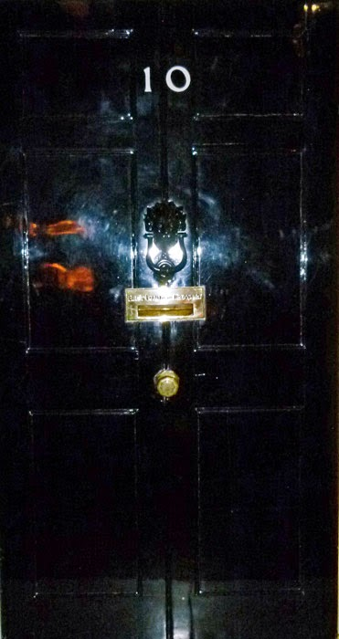 10 Downing Street, door, Churchill Museum, London