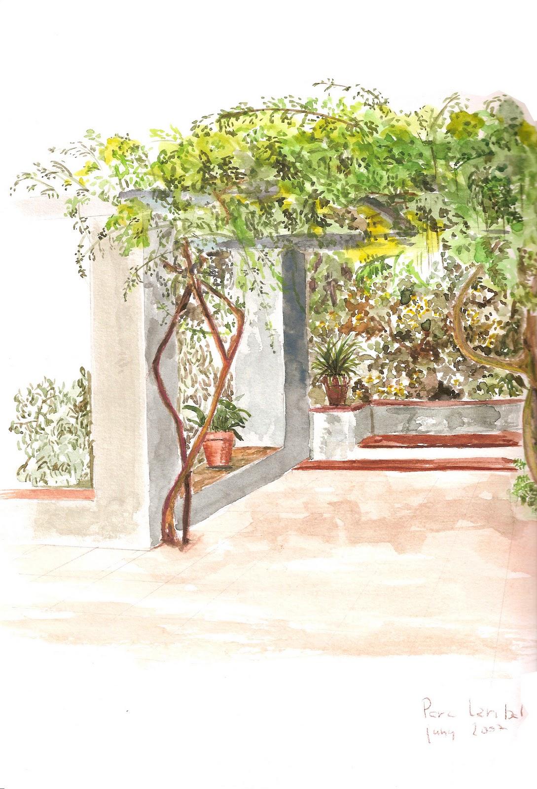 Jardines en paisajes curso de dibujo del jard n y del paisaje for Jardines laribal
