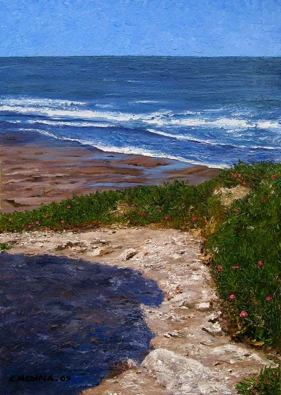 Pinturas cuadros lienzos arte paisajes marinos leo y for Telas del sur