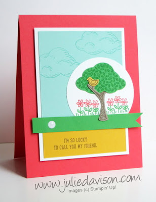Stampin' Up! Sprinkles of Life Card + Tree Builder Punch #stampinup www.juliedavison.com