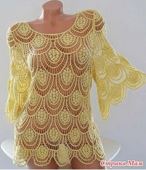 crochet drops tunic pattern