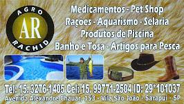 AGRO  RACHID Medicamentos, Pet Shop, Rações, Aquarismo, Selaria Produtos de Piscinas, Banho e Tos