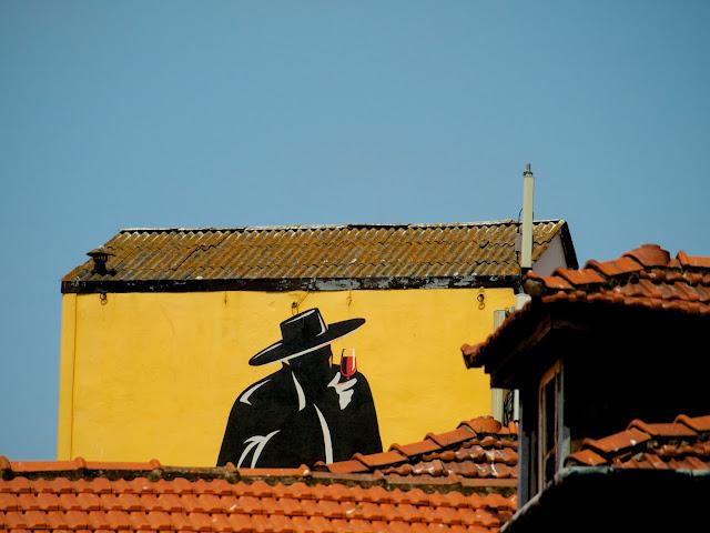 Cartel de la bodega Sandeman en Oporto
