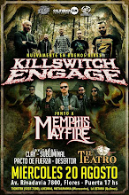 KILLSWITCH ENGAGE y Memphis May Fire el miercoles 20 de agosto en El Teatro de Flores.