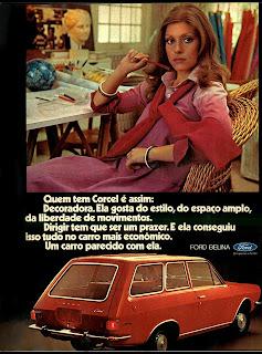 propaganda Ford Belina - 1976.  brazilian advertising cars in the 70. os anos 70. história da década de 70; Brazil in the 70s; propaganda carros anos 70; Oswaldo Hernandez;
