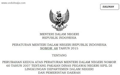 Permendagri No 68 Tahun 2015
