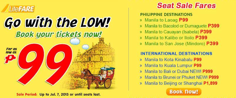 Cebu Pacific Seat Sale Fare