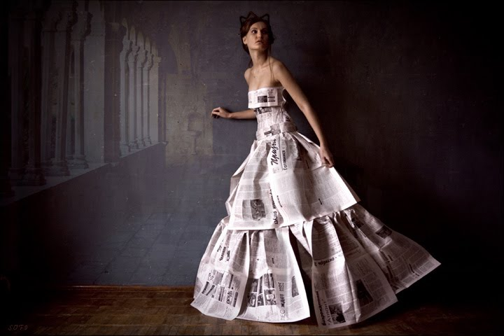 About you and me Newspaper-dress-art