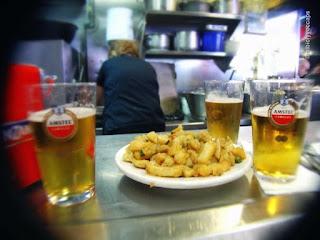 Tapas y Cañas en el Bar Joan Frau