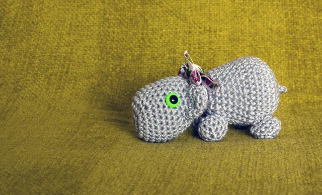 Hippo Amigurumi Patron : HAPPYAMIGURUMI: Amigurumi Hippo PDF pattern!