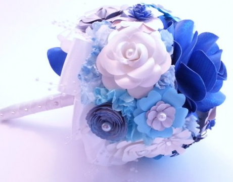 http://www.favcreations.com/product/handmade-blue-paper-bouquet-unique-flowers-for-weddings/