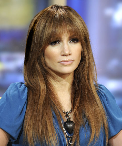 Jennifer Lopez full bangs haircut Hair trend 2011 for heart shaped face