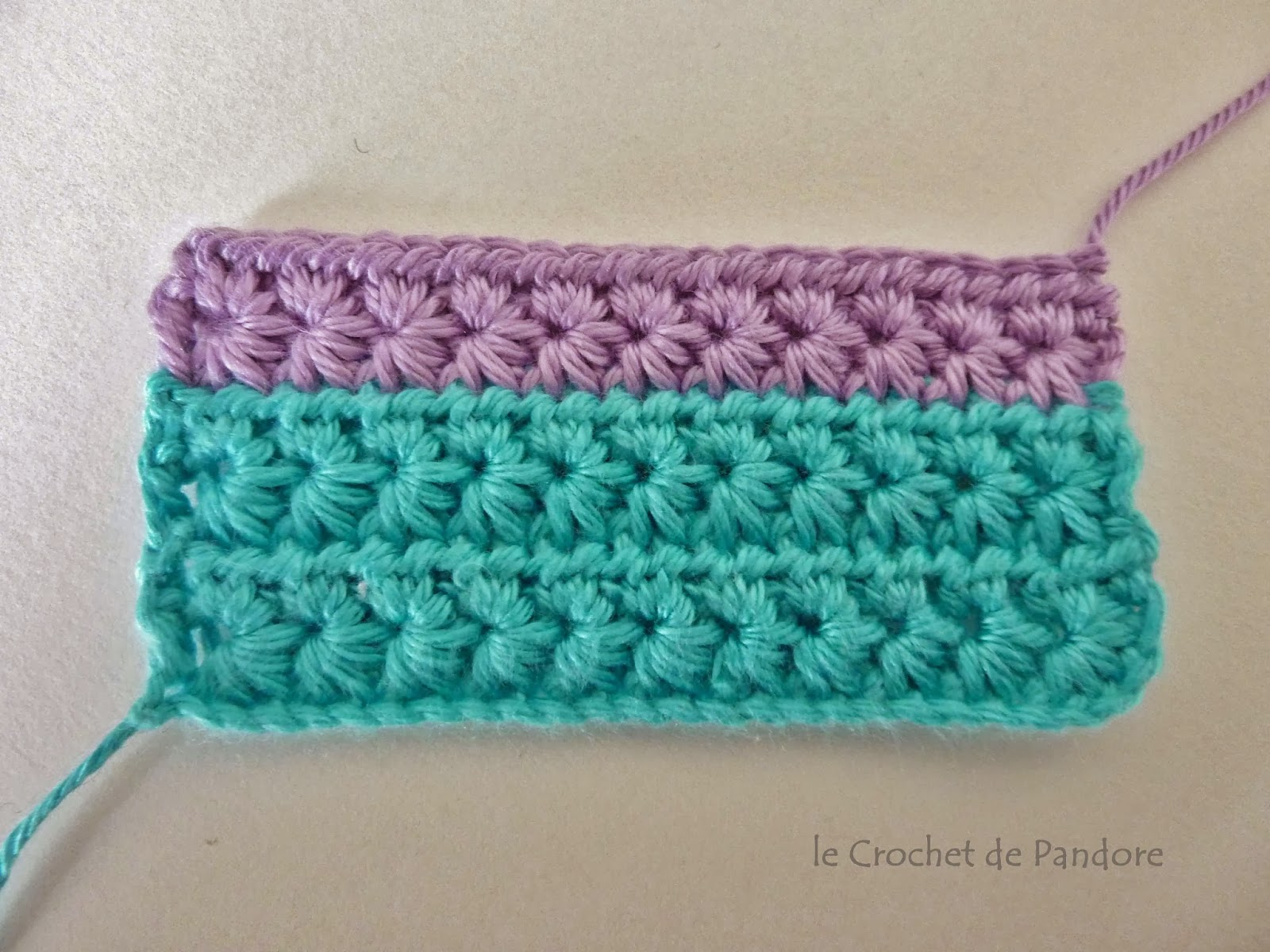 Souvent le Crochet de Pandore: Tuto du point étoile (star stitch) GE48