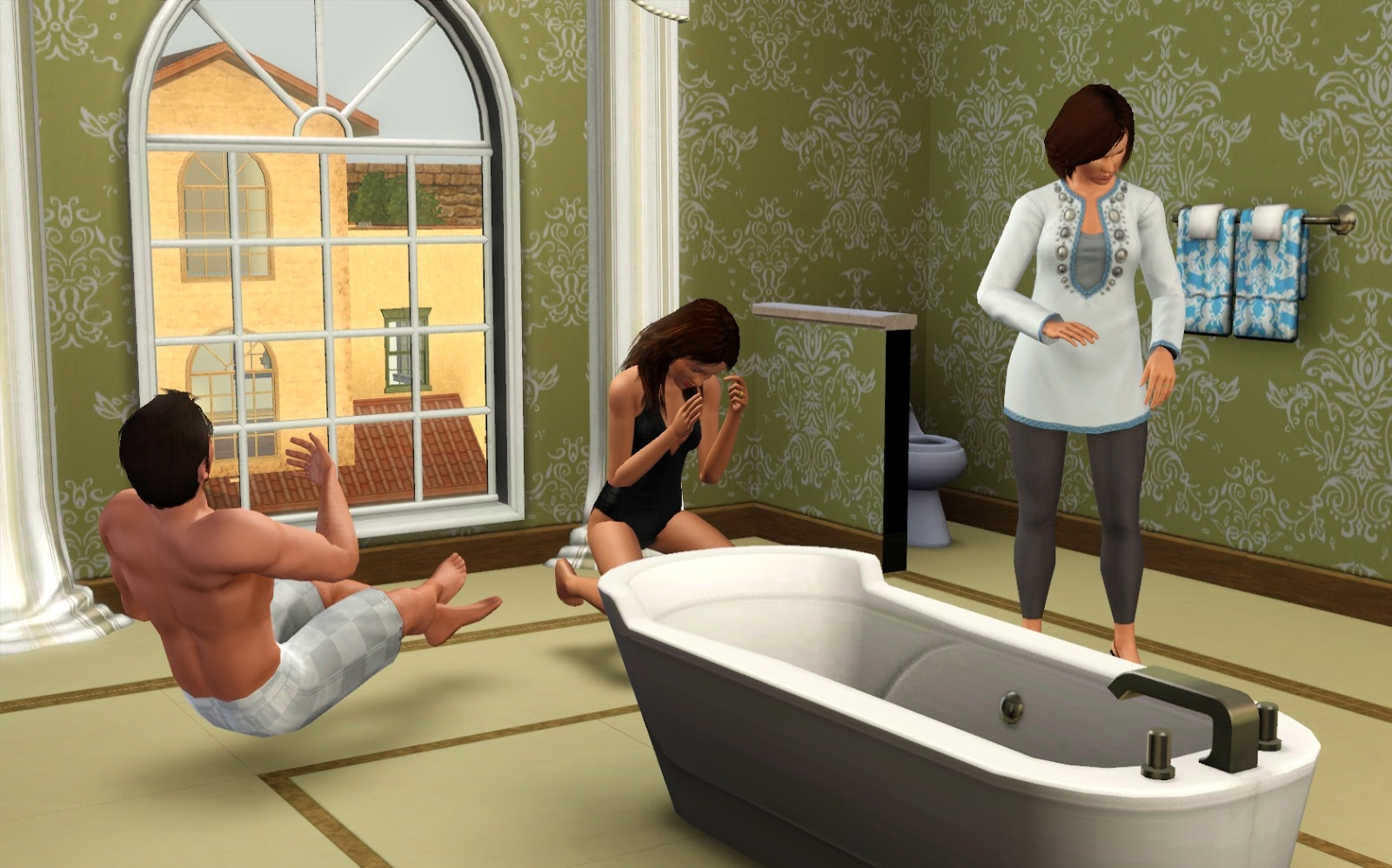 My sims 3 poses how to take pictures in bath with water for 3 4 bath