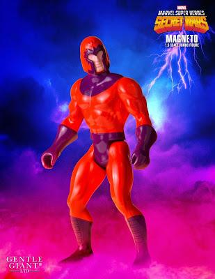 "Marvel's Secret Wars Magneto 12"" Jumbo Vintage Action Figure by Gentle Giant"