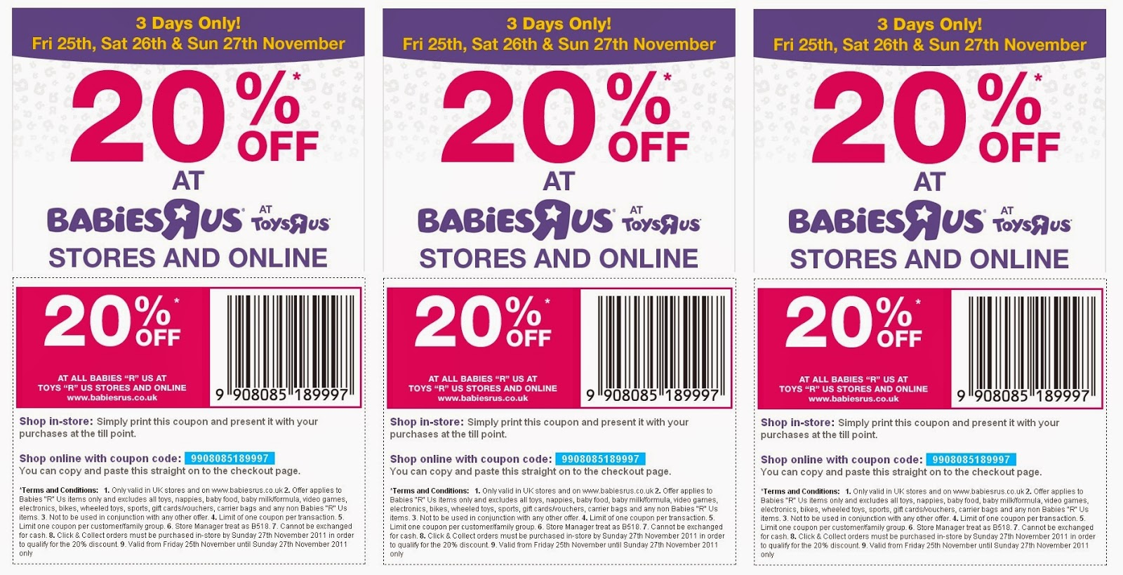 Coupon codes for babies r us