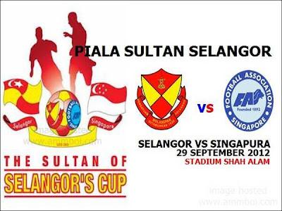 Keputusan Penuh Selangor Vs Singapura 29 September 2012