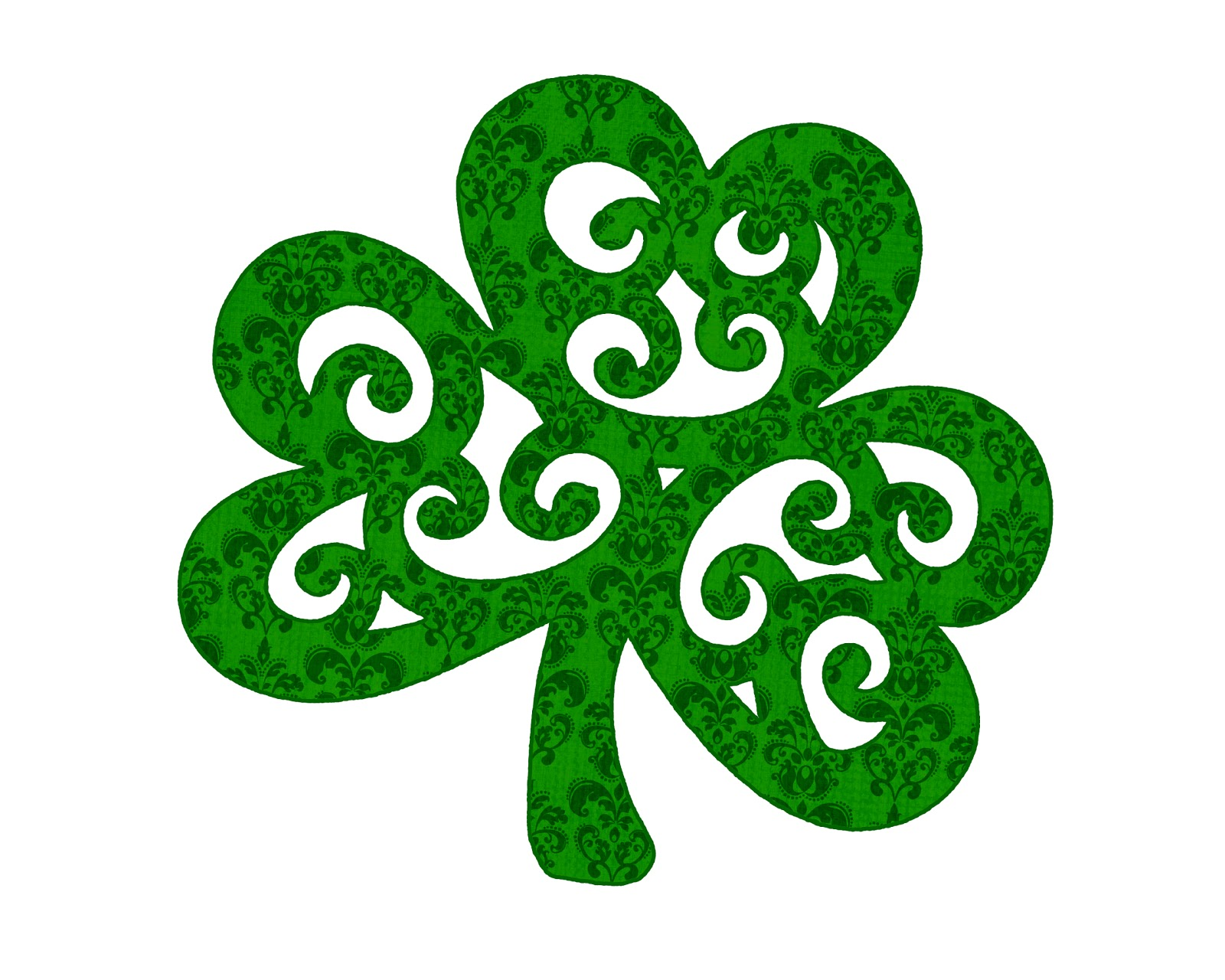It is an image of Tactueux St Patrick's Day Clover Printable