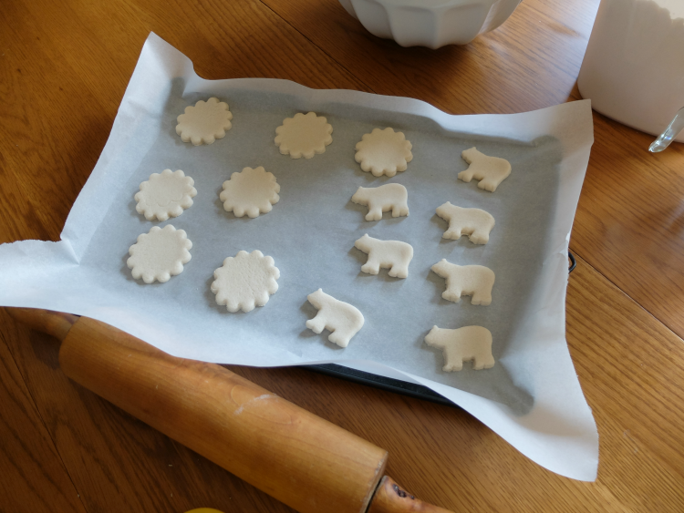Salt Dough bear ornaments, crafts with kids