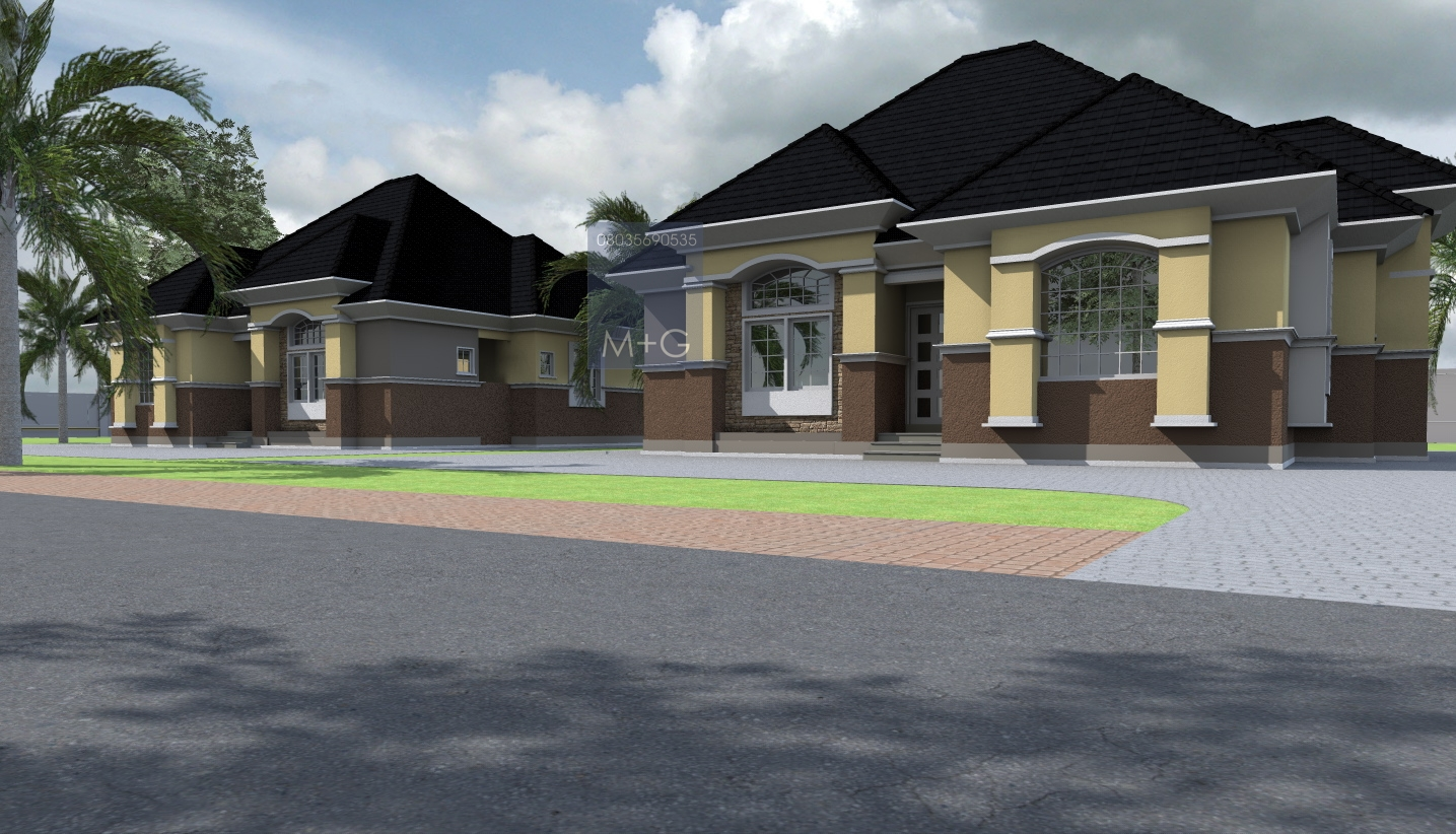 Contemporary nigerian residential architecture luxury 3 for Luxury bungalow house plans