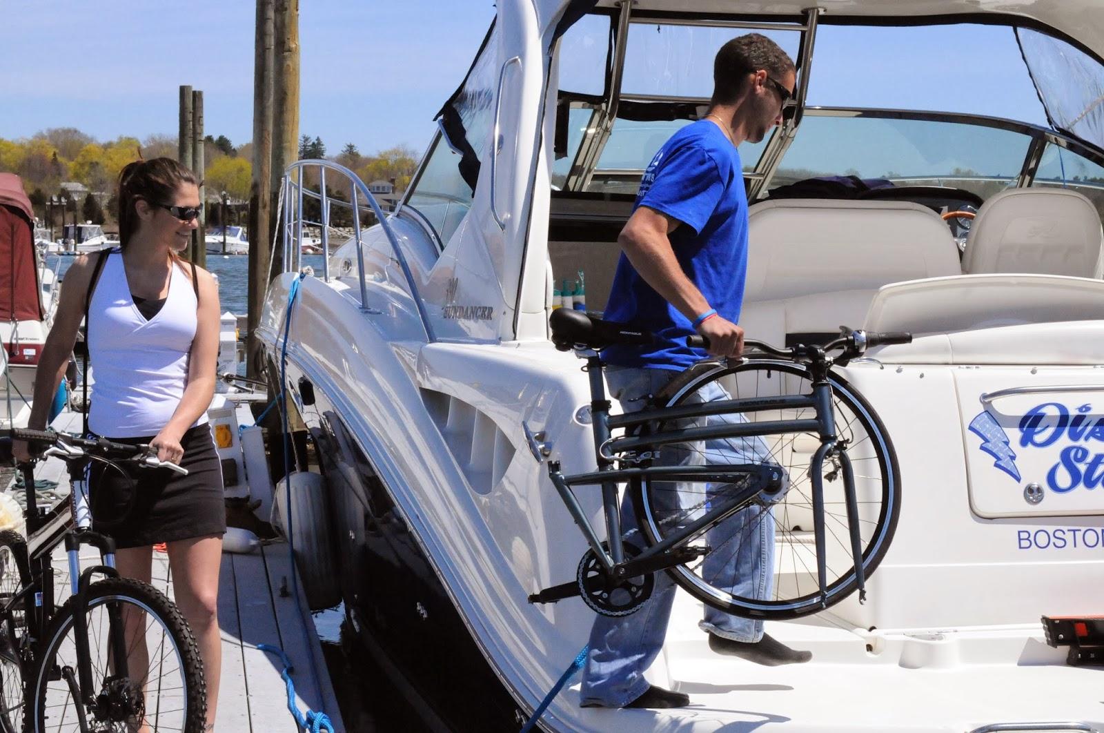 folding bikes on boats