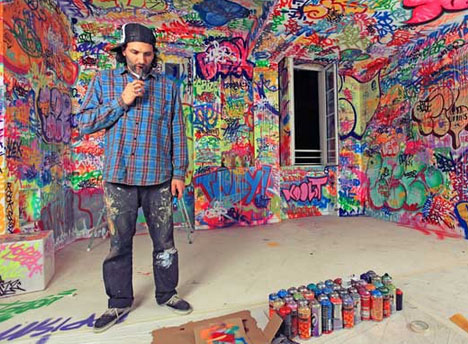 Increible Habitacion Llena De Graffitis Fotos Noticias - Graffitis-en-casa