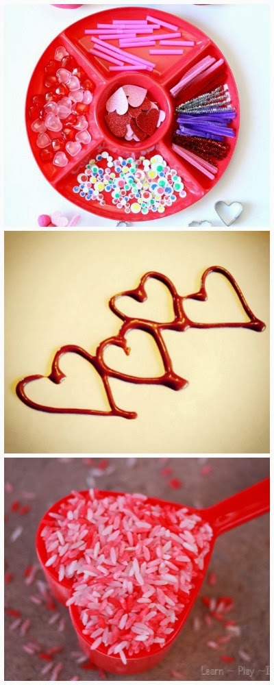 11 Fun sensory play activities with a Valentine's theme.