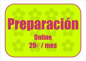 Preparación online 20€ / mes