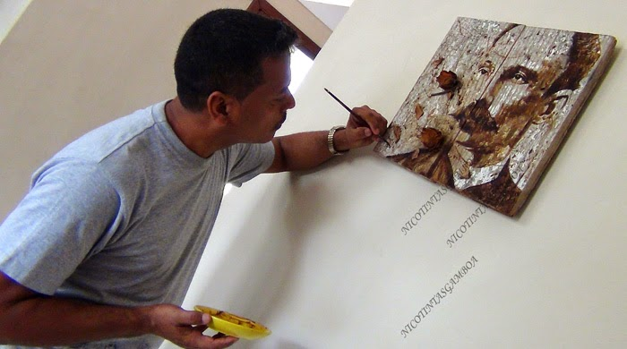 Pintor cubano de tintas tabaco