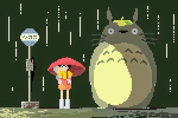 Tonari no Totoro Pixel Art