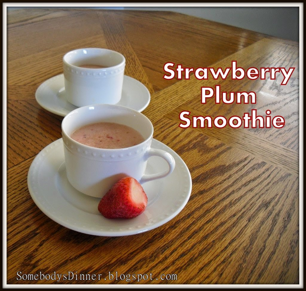 healthy breakfast, no sugar added plum strawberry