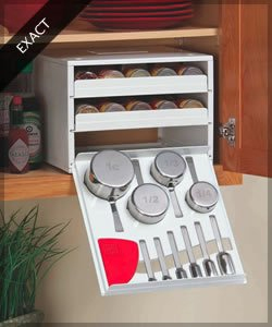 this one firstthe bottom drawer houses measuring cups and spoonsnow how cool is that thatu0027s just the kind of thing you need to organize an rv