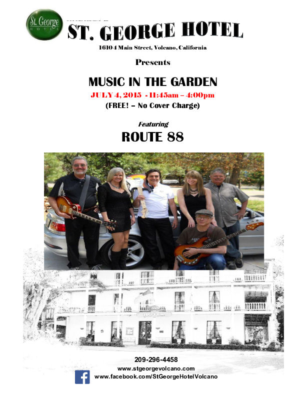 """Music in the Garden"" at the St. George Hotel - Sat July 4"