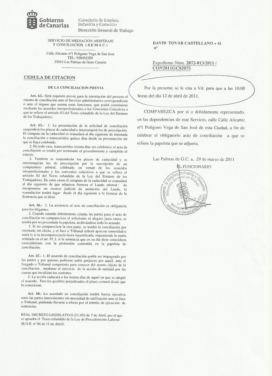 CATT-GLOBAL Salcai-Utinsa S.A.: marzo 2011