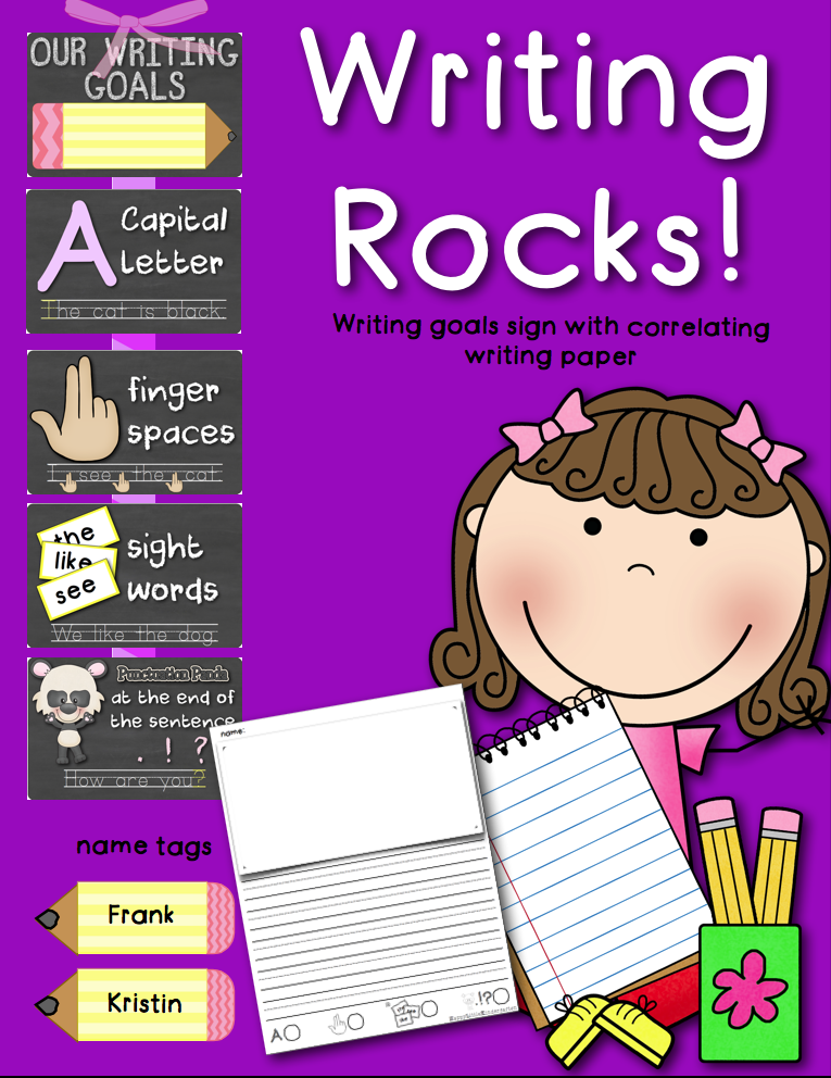 http://www.teacherspayteachers.com/Product/Writing-Rocks-Classroom-Goals-Poster-w-Self-Scoring-Writing-Paper-1353861