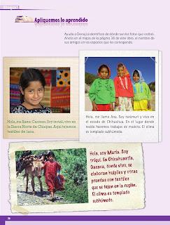 Apoyo Primaria Geografía 4to grado Bloque I lección 4 Las regiones de México