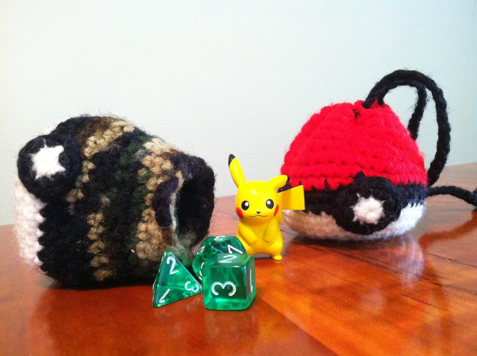 Heart In Flight Crochet Pokeball Drawstring Dicechange Bag